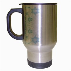 The Background Snow Snowflakes Travel Mug (silver Gray) by Onesevenart