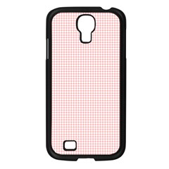 Red Line Plaid Vertical Horizon Samsung Galaxy S4 I9500/ I9505 Case (black) by Jojostore
