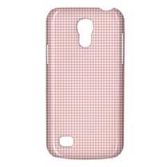 Red Line Plaid Vertical Horizon Galaxy S4 Mini by Jojostore