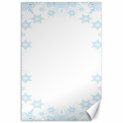 The Background Snow Snowflakes Canvas 20  X 30   by Onesevenart