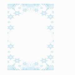 The Background Snow Snowflakes Large Garden Flag (two Sides) by Onesevenart