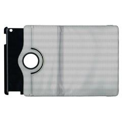 Grey Black Line Polka Dots Apple Ipad 2 Flip 360 Case by Jojostore
