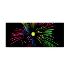Fireworks Pink Red Yellow Green Black Sky Happy New Year Cosmetic Storage Cases by Jojostore