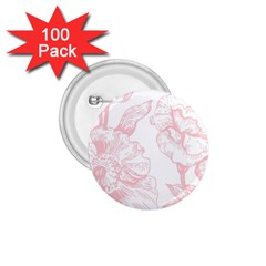 Vintage Pink Floral 1 75  Buttons (100 Pack)  by 8fugoso