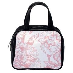Vintage Pink Floral Classic Handbags (one Side) by 8fugoso