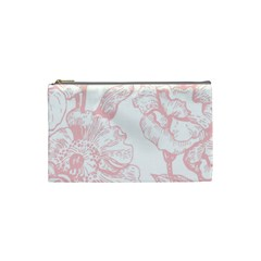 Vintage Pink Floral Cosmetic Bag (small)  by 8fugoso