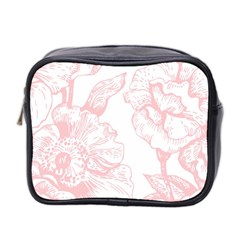 Vintage Pink Floral Mini Toiletries Bag 2 Side by 8fugoso