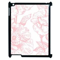 Vintage Pink Floral Apple Ipad 2 Case (black) by 8fugoso
