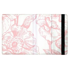 Vintage Pink Floral Apple Ipad 2 Flip Case by 8fugoso