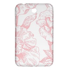 Vintage Pink Floral Samsung Galaxy Tab 3 (7 ) P3200 Hardshell Case  by 8fugoso