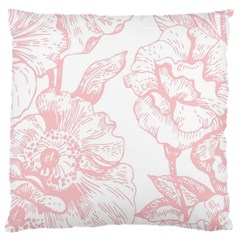 Vintage Pink Floral Standard Flano Cushion Case (one Side) by 8fugoso