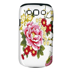 Butterfly Flowers Rose Samsung Galaxy S Iii Classic Hardshell Case (pc+silicone) by Jojostore