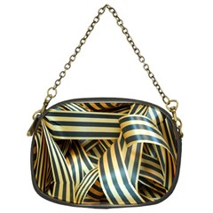 Ribbons Black Yellow Chain Purses (one Side)  by Jojostore