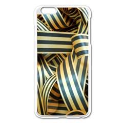 Ribbons Black Yellow Apple Iphone 6 Plus/6s Plus Enamel White Case by Jojostore