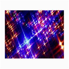 Star Light Space Planet Rainbow Sky Blue Red Purple Small Glasses Cloth (2 Side) by Jojostore