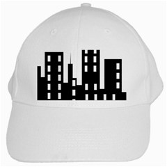 Tower City Town Building Black White Cap by Jojostore