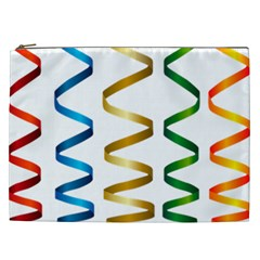 Tape Birthday Ribbon Party Yellow Red Blue Green Gold Rainbow Cosmetic Bag (xxl)  by Jojostore