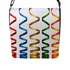 Tape Birthday Ribbon Party Yellow Red Blue Green Gold Rainbow Flap Messenger Bag (l)  by Jojostore