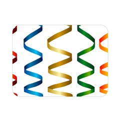 Tape Birthday Ribbon Party Yellow Red Blue Green Gold Rainbow Double Sided Flano Blanket (mini)  by Jojostore