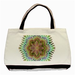 Star Flower Glass Sexy Chromatic Symmetric Basic Tote Bag (two Sides) by Jojostore
