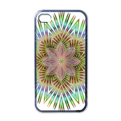 Star Flower Glass Sexy Chromatic Symmetric Apple Iphone 4 Case (black) by Jojostore