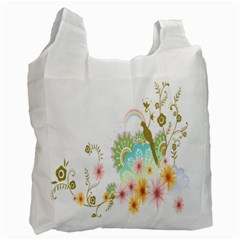 Wreaths Sexy Flower Star Leaf Rose Sunflower Bird Summer Recycle Bag (one Side) by Mariart