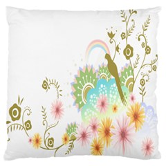 Wreaths Sexy Flower Star Leaf Rose Sunflower Bird Summer Standard Flano Cushion Case (two Sides) by Mariart