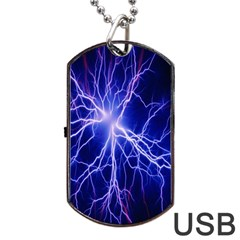 Blue Sky Light Space Dog Tag Usb Flash (one Side) by Mariart