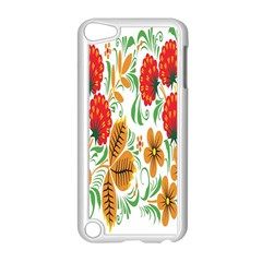 Flower Floral Red Yellow Leaf Green Sexy Summer Apple Ipod Touch 5 Case (white) by Mariart
