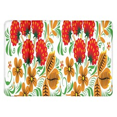 Flower Floral Red Yellow Leaf Green Sexy Summer Samsung Galaxy Tab 8 9  P7300 Flip Case by Mariart