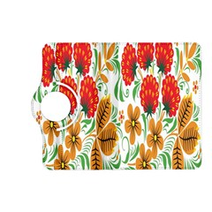 Flower Floral Red Yellow Leaf Green Sexy Summer Kindle Fire Hd (2013) Flip 360 Case by Mariart