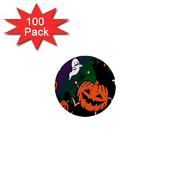 Happy Halloween 1  Mini Buttons (100 Pack)  by Mariart