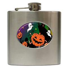 Happy Halloween Hip Flask (6 Oz) by Mariart