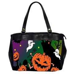 Happy Halloween Office Handbags (2 Sides)  by Mariart