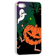 Happy Halloween Apple Iphone 4/4s Seamless Case (white) by Mariart