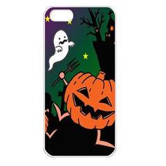 Happy Halloween Apple Iphone 5 Seamless Case (white) by Mariart