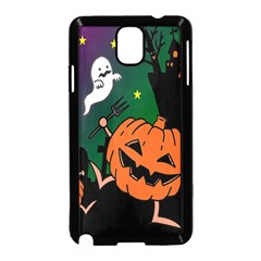 Happy Halloween Samsung Galaxy Note 3 Neo Hardshell Case (black) by Mariart