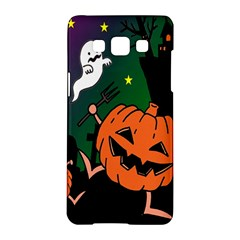 Happy Halloween Samsung Galaxy A5 Hardshell Case  by Mariart