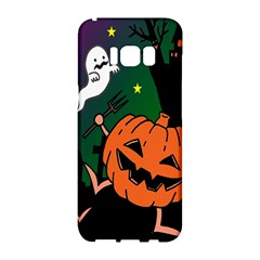 Happy Halloween Samsung Galaxy S8 Hardshell Case  by Mariart