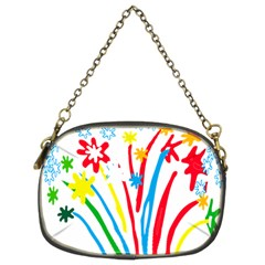Fireworks Rainbow Flower Chain Purses (two Sides)  by Mariart