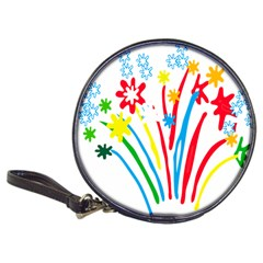 Fireworks Rainbow Flower Classic 20 Cd Wallets by Mariart