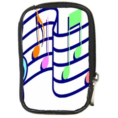 Music Note Tone Rainbow Blue Pink Greeen Sexy Compact Camera Cases by Mariart