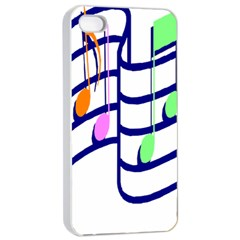 Music Note Tone Rainbow Blue Pink Greeen Sexy Apple Iphone 4/4s Seamless Case (white) by Mariart