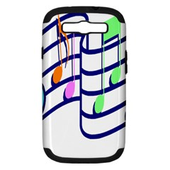 Music Note Tone Rainbow Blue Pink Greeen Sexy Samsung Galaxy S Iii Hardshell Case (pc+silicone) by Mariart