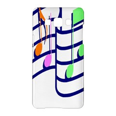 Music Note Tone Rainbow Blue Pink Greeen Sexy Samsung Galaxy A5 Hardshell Case  by Mariart