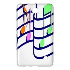Music Note Tone Rainbow Blue Pink Greeen Sexy Samsung Galaxy Tab 4 (7 ) Hardshell Case  by Mariart