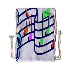 Music Note Tone Rainbow Blue Pink Greeen Sexy Drawstring Bag (small) by Mariart