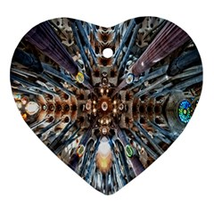 Iron Glass Space Light Ornament (heart) by Mariart