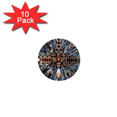 Iron Glass Space Light 1  Mini Magnet (10 Pack)  by Mariart