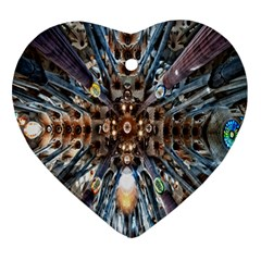 Iron Glass Space Light Heart Ornament (two Sides) by Mariart